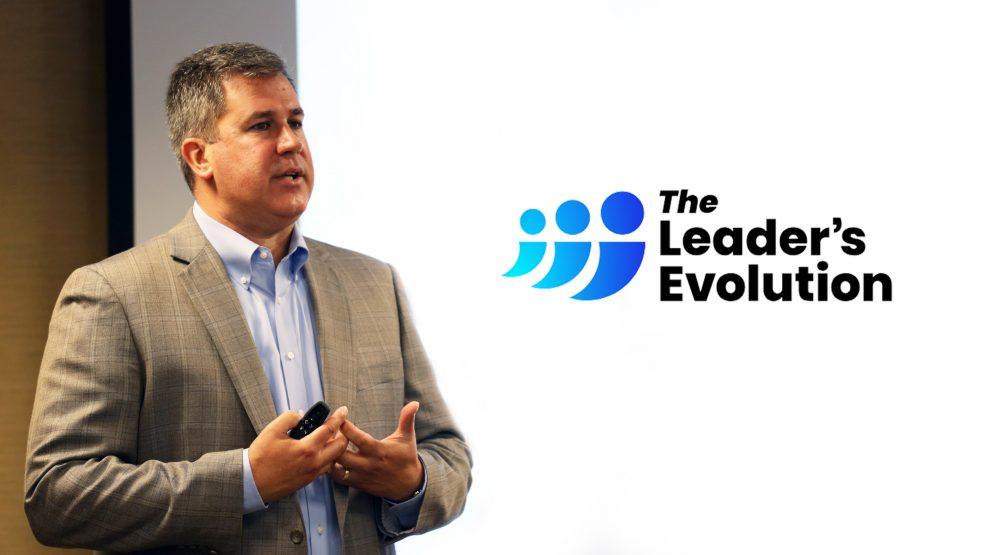 Ken Warman with The Leader's Evolution logo